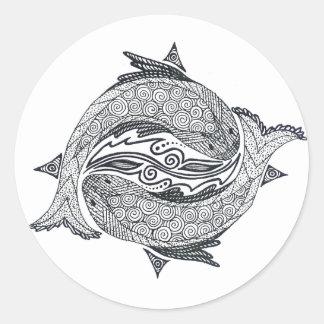 Pisces No. 2 Classic Round Sticker