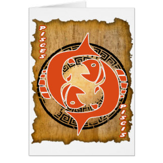 PISCES PAPYRUS PRODUCTS GREETING CARD