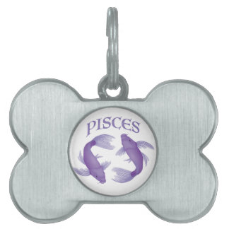 Pisces Pet Name Tag