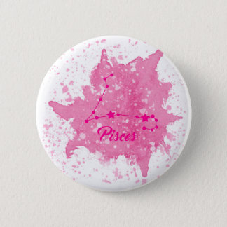 Pisces Pink Button