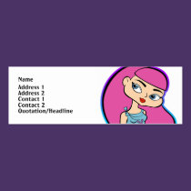 Pisces Profile Card business cards