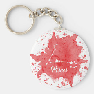 Pisces Red Keychain