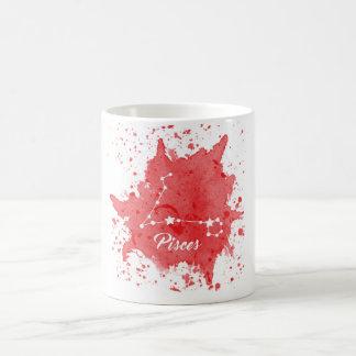 Pisces Red Mug