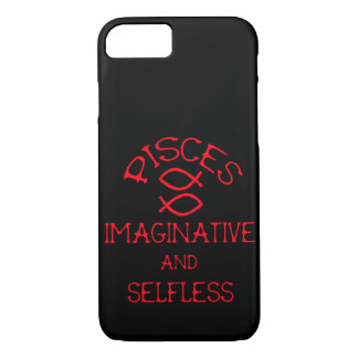 Pisces (Red Text) iPhone 8/7 Case