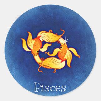 Pisces Round Sticker