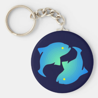 Pisces Silhouette Key Ring
