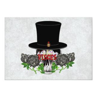 "Pisces Skull 5"" X 7"" Invitation Card"