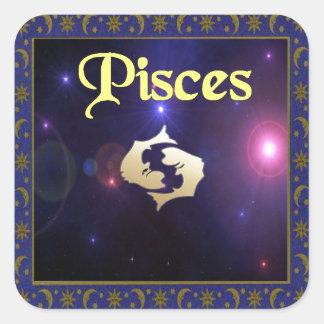 Pisces Square Sticker