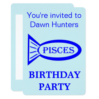 Pisces Star Sign Birthday Party Invitation