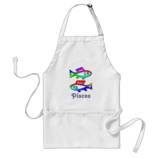 Pisces Star Sign Color Fish Painter Cook Gardener Adult Apron