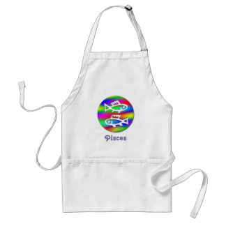 Pisces Star Sign Rainbow Fish Chef Crafts Cooking Adult Apron
