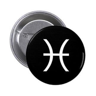 Pisces Symbol 6 Cm Round Badge