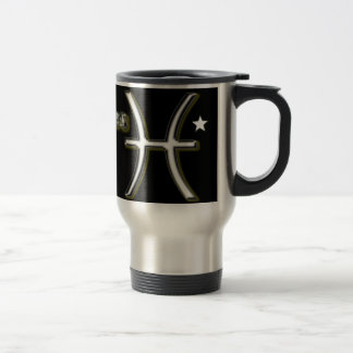 Pisces symbol travel mug
