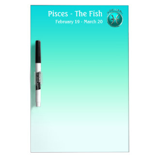 Pisces - The Fish Astrological Sign Dry Erase Whiteboards