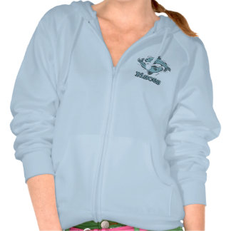 Pisces The Fish zodiac astrological zip up jacket