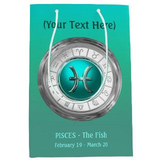 Pisces - The Fish Zodiac Sign Medium Gift Bag