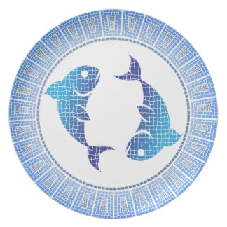 Pisces the Fish Zodiac Sign Plate