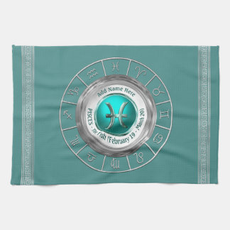 Pisces - The Fish Zodiac Sign Tea Towel