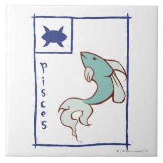 Pisces Large Square Tile