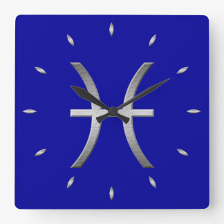 pisces time wall clocks
