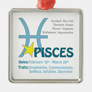 Pisces Traits Square Ornament
