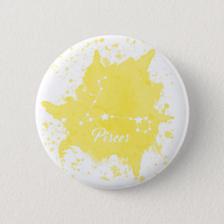 Pisces Yellow Button