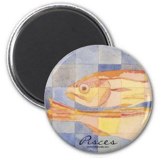 Pisces Zodiac 6 Cm Round Magnet