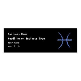 Pisces. Zodiac Astrological Sign. Blue. Business Card Template