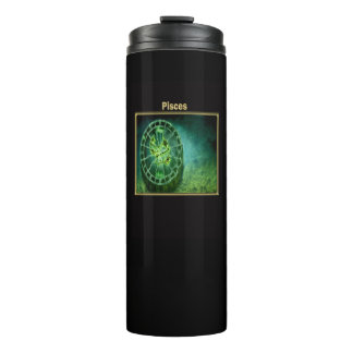 Pisces Zodiac Astrology design Thermal Tumbler