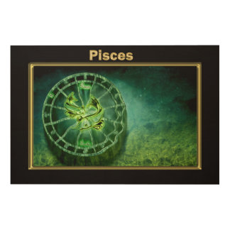 Pisces Zodiac Astrology design Wood Print