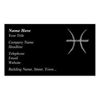 Pisces. Zodiac Astrology Sign. Black. Business Card Templates