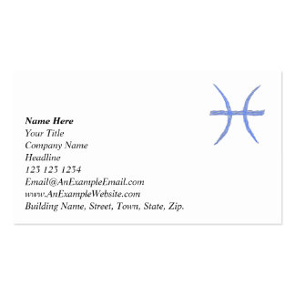 Pisces. Zodiac Astrology Sign. Business Cards