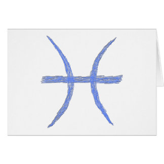 Pisces. Zodiac Astrology Sign. Greeting Card