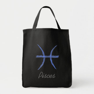 Pisces. Zodiac Astrology Sign. Grocery Tote Bag