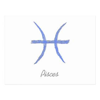 Pisces. Zodiac Astrology Sign. Postcard