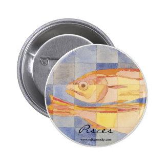 Pisces Zodiac Pinback Buttons