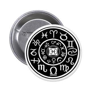 Pisces - Zodiac Constellation Planetary Design Pin