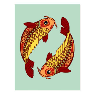Pisces Zodiac - Fish Postcard