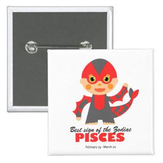Pisces Zodiac for kids Button
