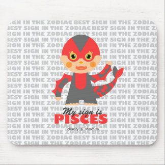 Pisces Zodiac for kids Mouse Pad