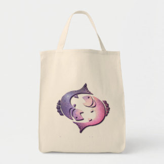 Pisces Zodiac Grocery Tote Tote Bag