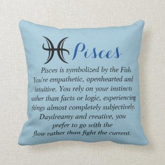Pisces Zodiac Horoscope Throw Cushion