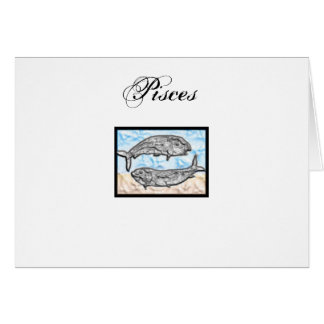 Pisces Zodiac Items Greeting Card