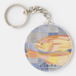 Pisces Zodiac Key Chain