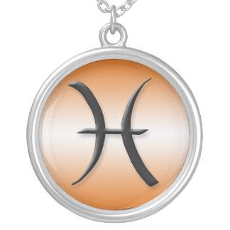 Pisces Zodiac Light Gradient Orange Necklace