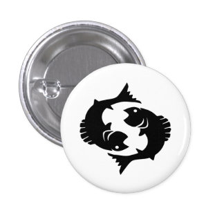 Pisces Zodiac Pictogram Button