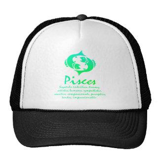 Pisces Zodiac Shirt Trucker Hats