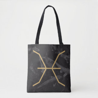 Pisces Zodiac Sign | Custom Background Tote Bag