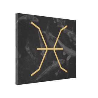 Pisces Zodiac Sign | customizable Background Canvas Print