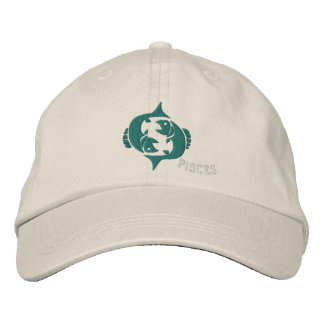 Pisces Zodiac Sign Embroidery Feb 19 - March 20 Embroidered Hat